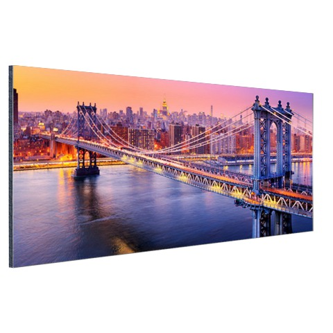 Foto Brooklyn Bridge NY op aluminium geprint