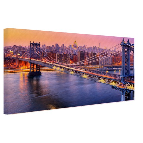 Foto Brooklyn Bridge NY op canvas geprint