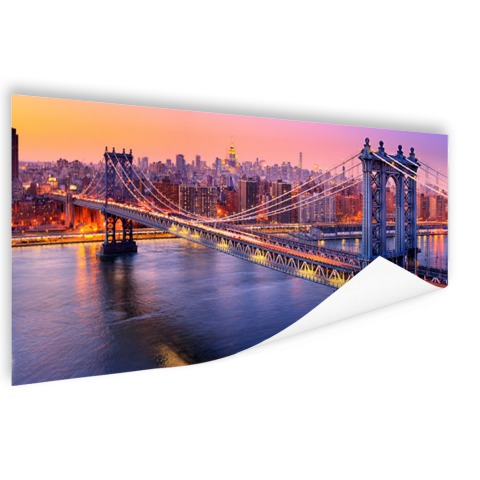 Foto Brooklyn Bridge NY op poster geprint