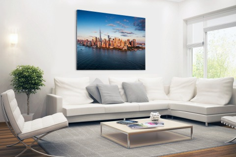 Luchtfoto Skyline New York Aluminium