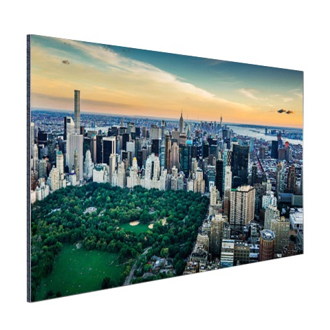 Luchtfoto Central Park NY op aluminium geprint