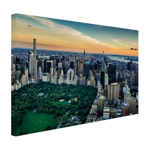 Luchtfoto Central Park NY op canvas geprint