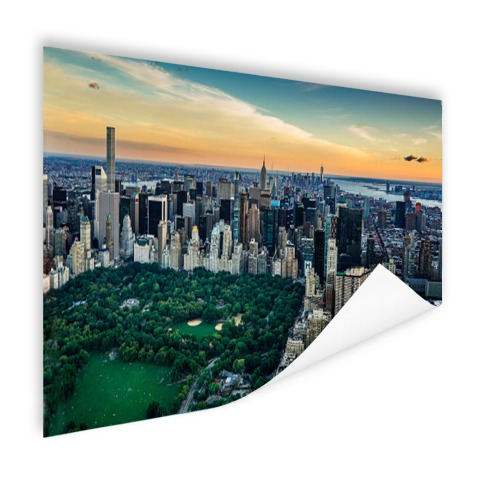 Luchtfoto Central Park NY op poster geprint