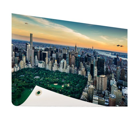 Luchtfoto Central Park NY op tuinposter geprint