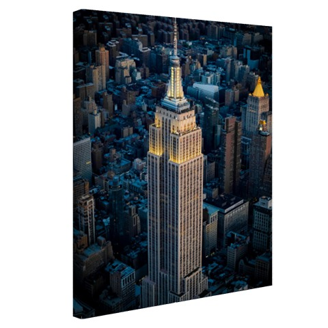 Foto Empire State Building Manhattan NY op canvas afgedrukt