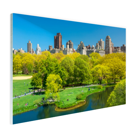 Groen Central Park in NY Glas