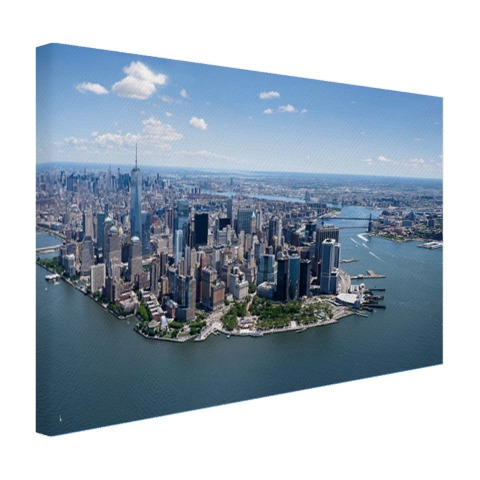 Luchtfoto New York op canvas geprint