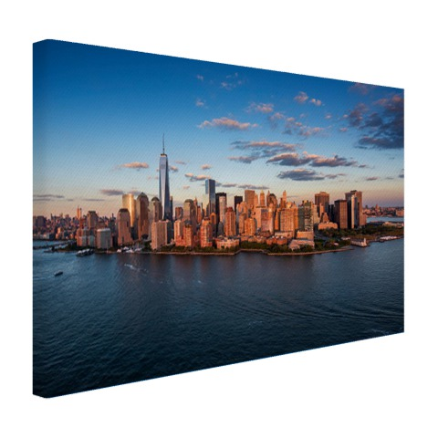 luchtfoto skyline new york canvas. Black Bedroom Furniture Sets. Home Design Ideas