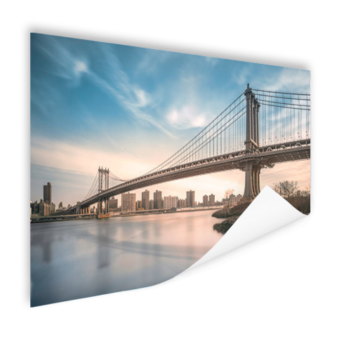Manhattan brug over de East River Poster