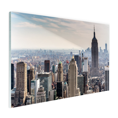 New York City Skyline Glas
