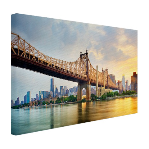 Foto Queensboro Bridge NY op canvas afgedrukt