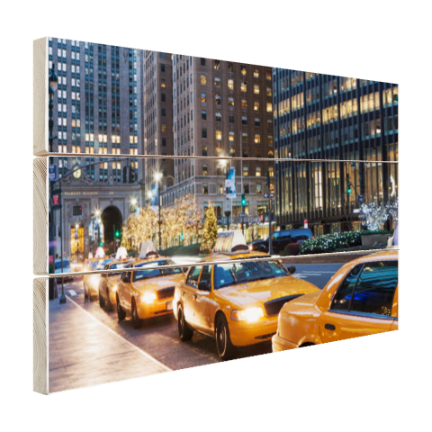Taxi stand in New York City Hout
