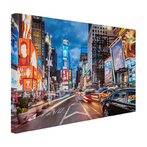 Foto Times Square NY op canvas geprint