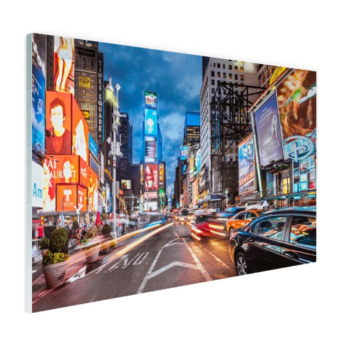 Foto Times Square NY op glas geprint