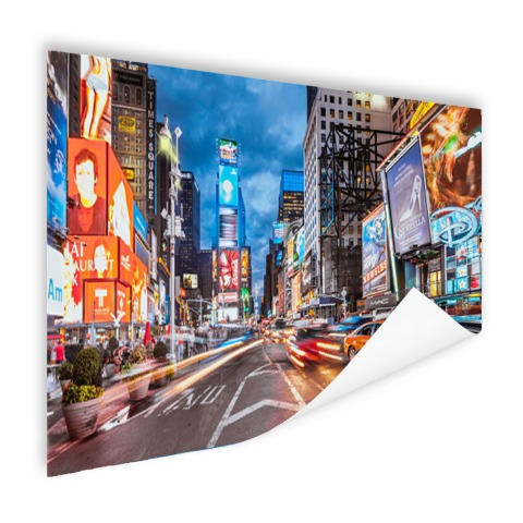 Foto Times Square NY op poster geprint