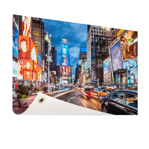 Foto Times Square NY op tuinposter geprint