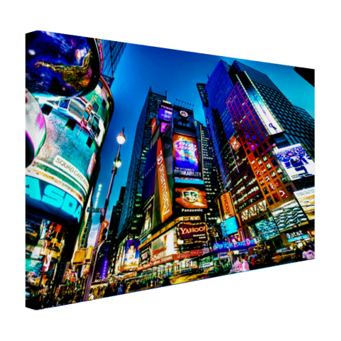 Times Square NYC in de avond Canvas