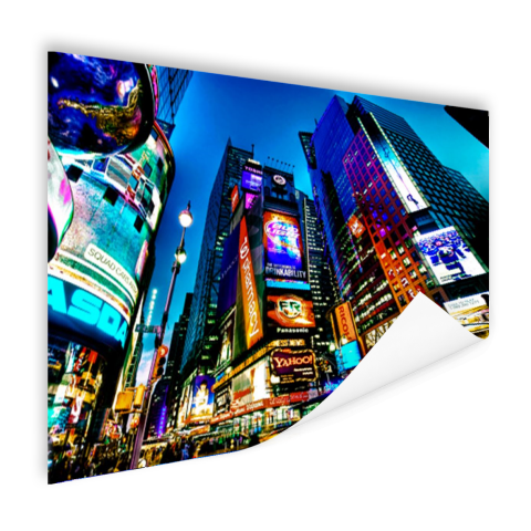 Times Square NYC in de avond Poster