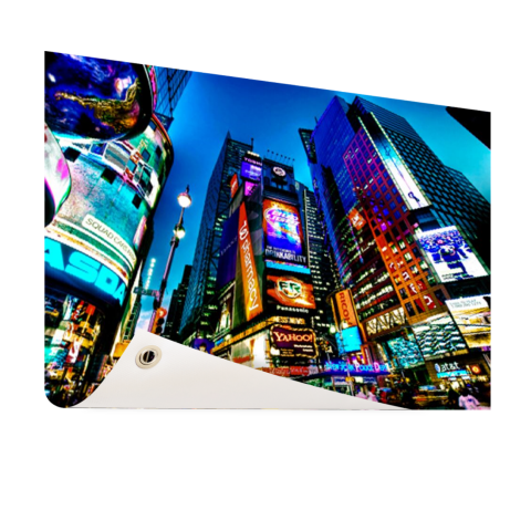 Times Square NYC in de avond Tuinposter