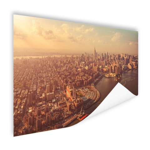 Vogelvlucht over Manhattan Poster