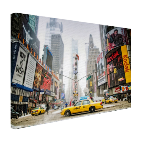 Yellow Cabs in NYC Canvas