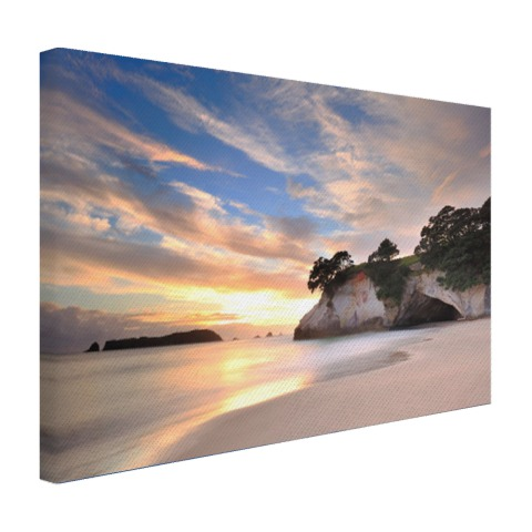 Cathedral Cove Nieuw-Zeeland fotoprint Canvas