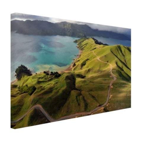Luchtfoto Marlborough Sounds Canvas