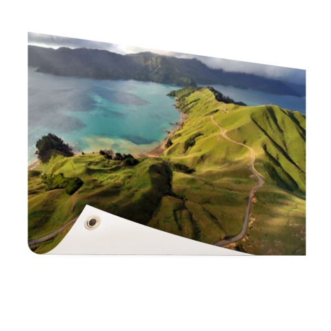 Luchtfoto Marlborough Sounds Tuinposter