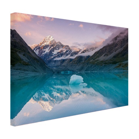 Mount Cook bij zonsondergang fotoprint Canvas