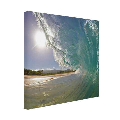 Golven Oceanie fotoprint Canvas