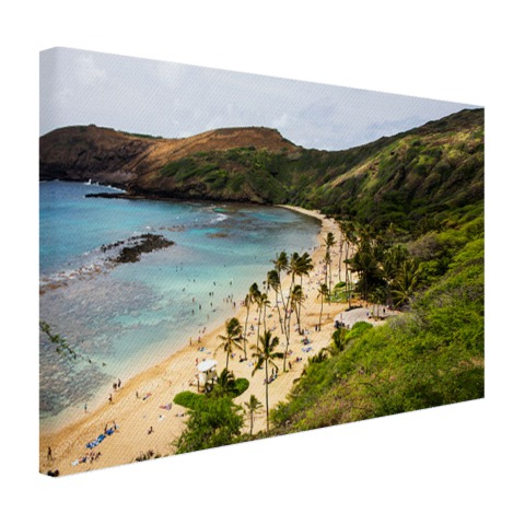 Hanauma Bay op Hawaii Oceanie Canvas