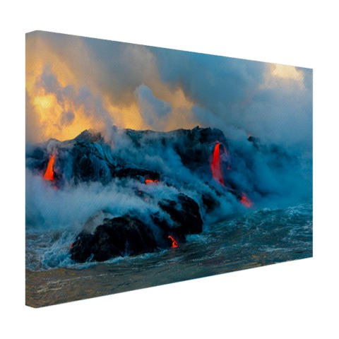 Lava in Oceanie fotoprint Canvas