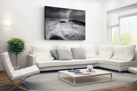 Storm op zee fotoprint Canvas