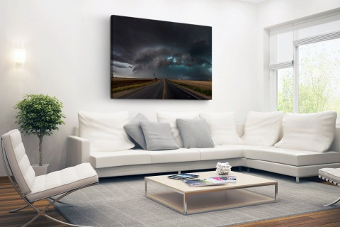 Tornado wolk over Texas Canvas