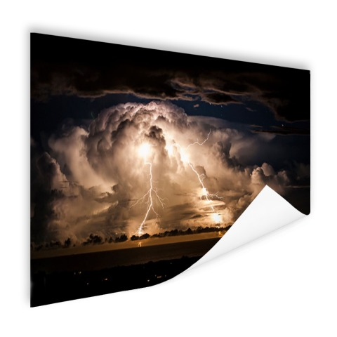Stormachtige nacht over Byron Bay poster