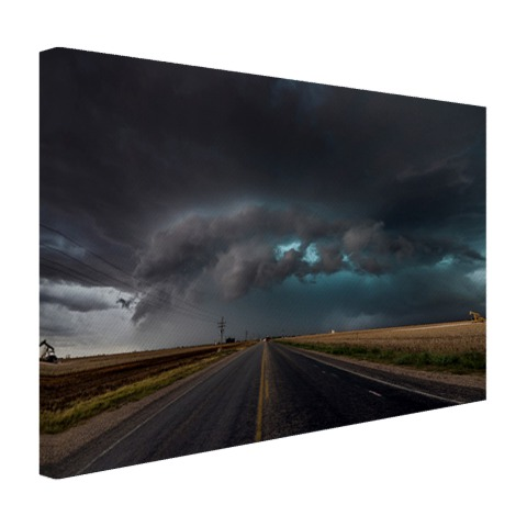 Tornado wolk over Texas op canvas