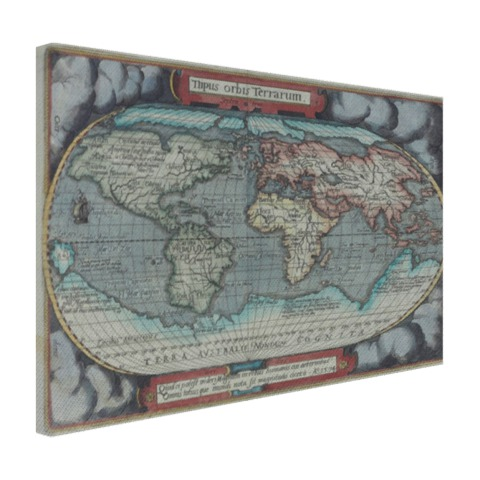 Oude atlas print Canvas