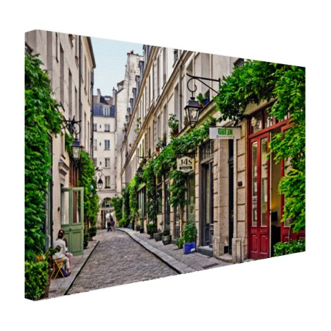 Het Bastille District op canvas