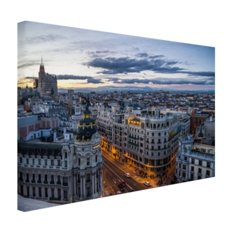 Madrid skyline op canvas