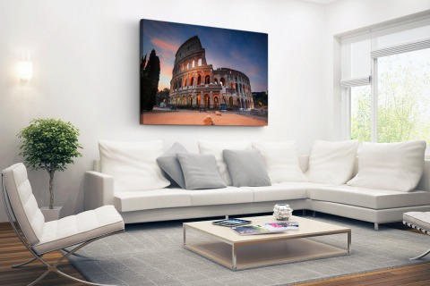 Colosseum in de nacht Canvas
