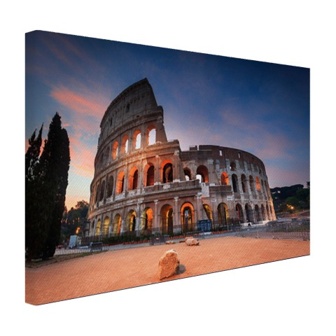 Colosseum in de nacht op canvas