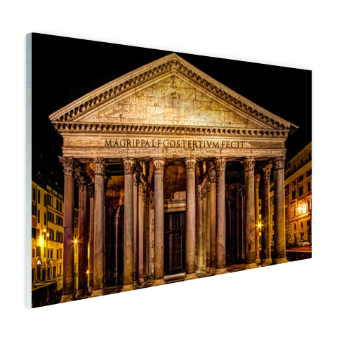 Pantheon Rome in de nacht Glas
