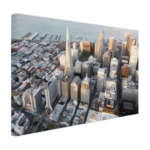 Centrum San Francisco op canvas