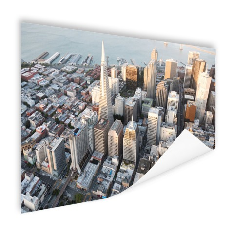 Centrum San Francisco op poster