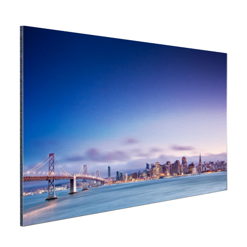 De skyline vanaf de Golden Gate Bridge Aluminium