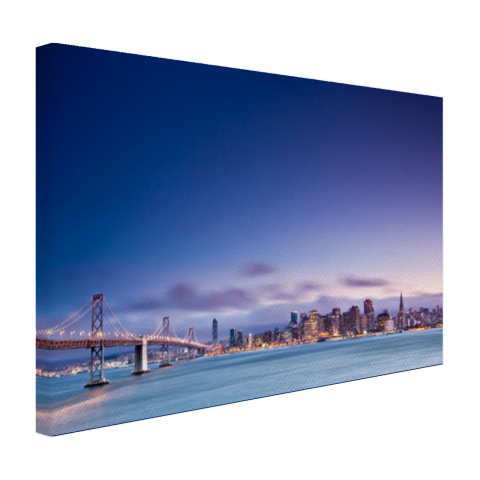 De skyline vanaf de Golden Gate Bridge Canvas