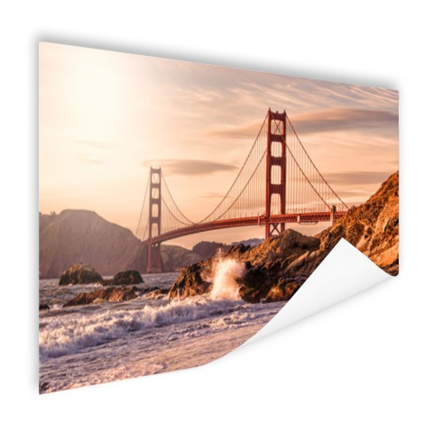 Golden Gate Bridge met Golven op poster
