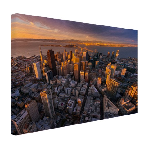 Luchtfoto San Francisco op canvas