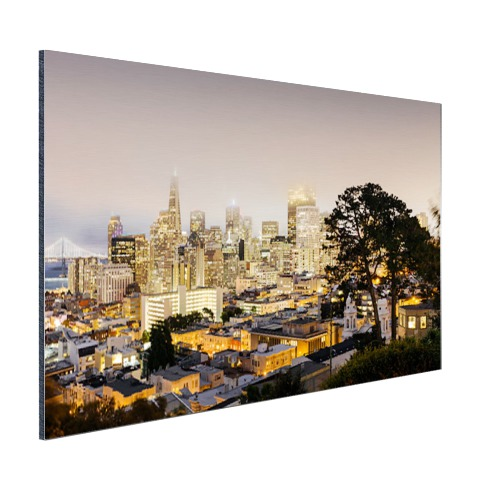 San Francisco by night op aluminium
