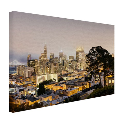 San Francisco by night op canvas